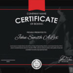 5+ Boxing Certificates – Psd & Word Designs | Design Trends Throughout Unique Boxing Certificate Template