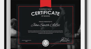 5+ Boxing Certificates – Psd & Word Designs   Design Trends throughout Unique Boxing Certificate Template