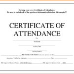 5+ Certificate Of Attendance Templates - Word Excel throughout Attendance Certificate Template Word