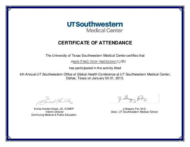 5+ Certificate Of Attendance Templates – Word Excel Throughout Certificate Of Attendance Conference Template