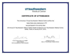5+ Certificate Of Attendance Templates – Word Excel throughout Conference Certificate Of Attendance Template