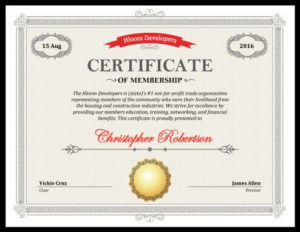 5 Certificate Of Membership Templates [Free Download] | Hloom for Fresh Llc Membership Certificate Template Word