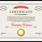 5 Certificate Of Membership Templates [Free Download] | Hloom In New Member Certificate Template