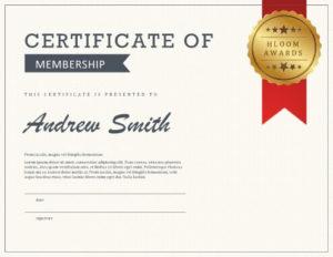 5 Certificate Of Membership Templates [Free Download]   Hloom inside Life Membership Certificate Templates