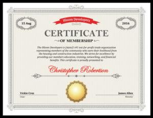 5 Certificate Of Membership Templates [Free Download] | Hloom regarding Llc Membership Certificate Template