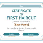 5+ Free Printable First Haircut Certificate Templates – Blue With Regard To New First Haircut Certificate Printable Free 9 Designs