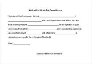 5 [Genuine] Fake Medical Certificate Online | Every Last in Fake Medical Certificate Template Download