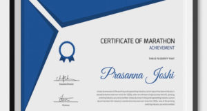 5+ Marathon Certificates – Psd & Word Designs | Design within Quality Marathon Certificate Templates