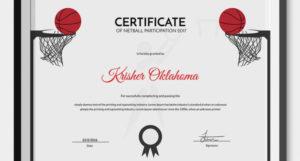 5 Netball Certificates – Psd & Word Designs | Design Trends regarding Quality Netball Participation Certificate Templates