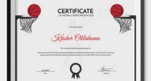 5 Netball Certificates – Psd & Word Designs | Design Trends with New Download 7 Basketball Participation Certificate Editable Templates