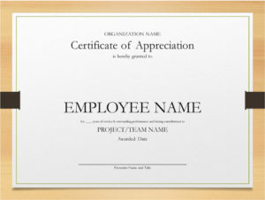 5+ Printable Years Of Service Certificate Templates – Word in Certificate For Years Of Service Template