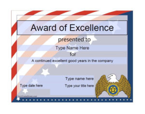 50 Free Amazing Award Certificate Templates – Free Template with regard to New Donation Certificate Template Free 14 Awards