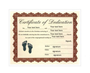 50 Free Baby Dedication Certificate Templates – Printable in New Baby Christening Certificate Template