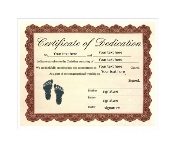 50 Free Baby Dedication Certificate Templates - Printable in New Baby Christening Certificate Template