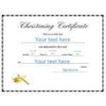 50 Free Baby Dedication Certificate Templates – Printable Inside Quality Free Fillable Baby Dedication Certificate Download