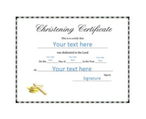 50 Free Baby Dedication Certificate Templates – Printable pertaining to Baby Christening Certificate Template