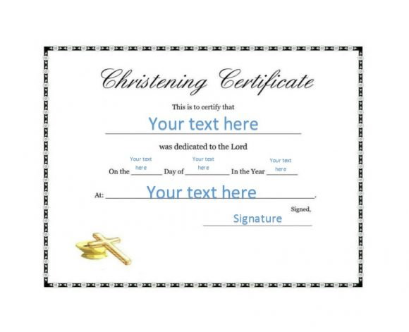 50 Free Baby Dedication Certificate Templates - Printable regarding Free Printable Baby Dedication Certificate Templates