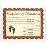 50 Free Baby Dedication Certificate Templates – Printable With 9 Worlds Best Mom Certificate Templates Free