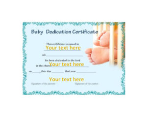 50 Free Baby Dedication Certificate Templates – Printable with Free Printable Baby Dedication Certificate Templates