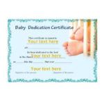 50 Free Baby Dedication Certificate Templates – Printable With Regard To Quality Free Fillable Baby Dedication Certificate Download