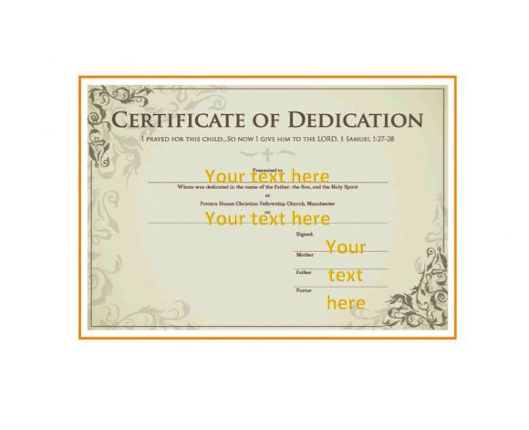 50 Free Baby Dedication Certificate Templates - Printable within Baby Dedication Certificate Template