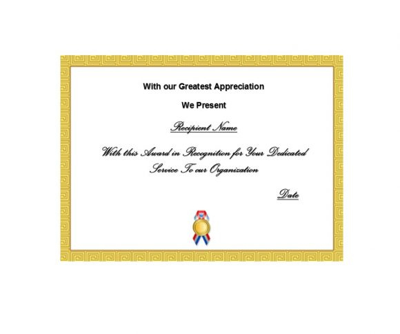 50 Free Certificate Of Recognition Templates - Printable pertaining to Fresh Years Of Service Certificate Template Free 11 Ideas