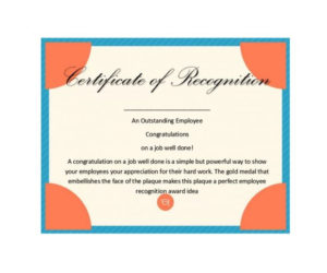 50 Free Certificate Of Recognition Templates – Printable throughout Unique Template For Recognition Certificate