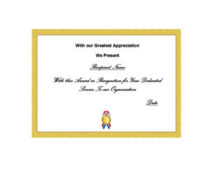 50 Free Certificate Of Recognition Templates – Printable with Fresh Template For Certificate Of Award