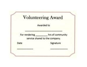 50 Free Volunteering Certificates – Printable Templates inside Unique Volunteer Of The Year Certificate 10 Best Awards