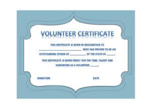 50 Free Volunteering Certificates – Printable Templates pertaining to Volunteer Award Certificate Template