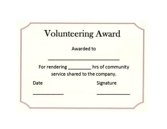 50 Free Volunteering Certificates - Printable Templates with regard to Volunteer Certificate Template