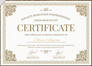 50 Multipurpose Certificate Templates And Award Designs For for High Resolution Certificate Template