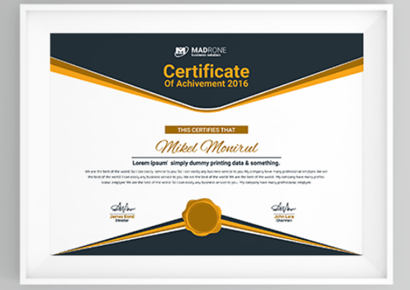50 Multipurpose Certificate Templates And Award Designs For intended for Unique High Resolution Certificate Template
