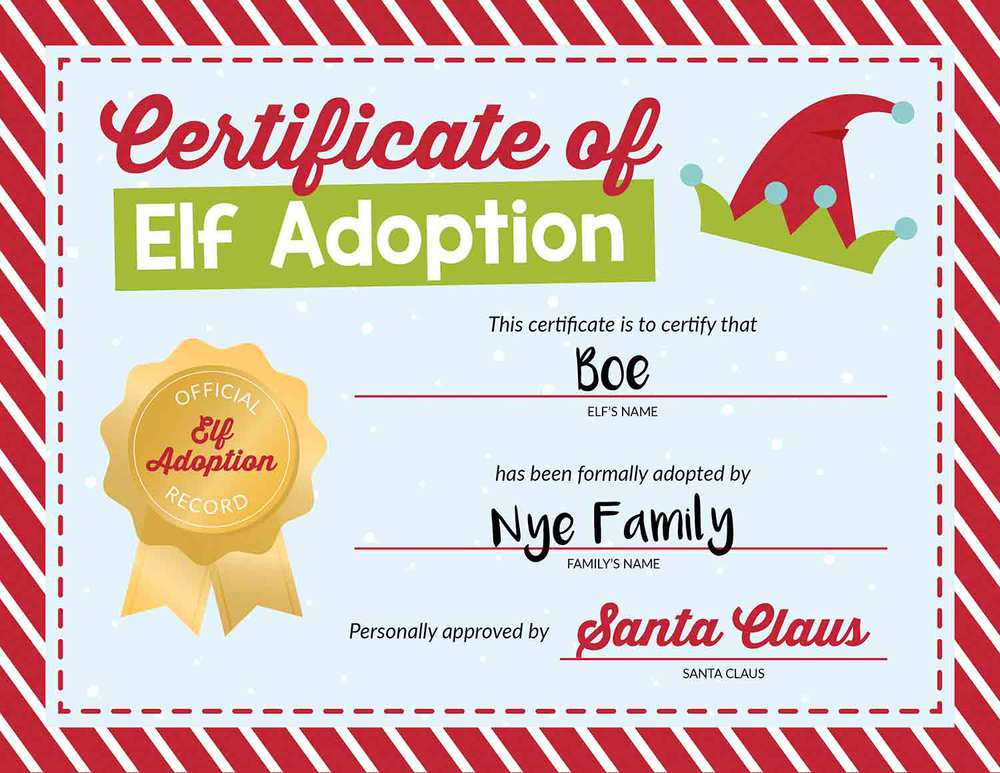 50 Of The Best Elf On The Shelf Names (Free Printables!) - I with regard to Quality Elf Adoption Certificate Free Printable