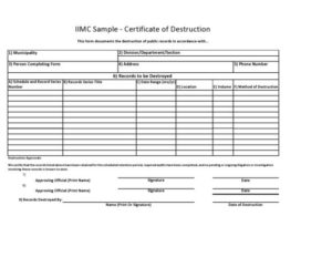 52 Useful Certificates Of Destruction (& Examples throughout Destruction Certificate Template