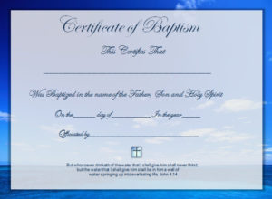 58 With Certificate Samples In Word – Resume Format with regard to Baptism Certificate Template Word Free