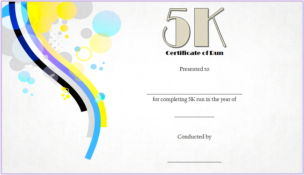 5K Certificate Of Completion Template Free 1 | Certificate within Unique Finisher Certificate Template 7 Completion Ideas