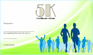 5K Certificate Of Completion Template Free 2   Certificate pertaining to 5K Race Certificate Templates