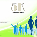 5K Certificate Of Completion Template Free 2 Within 5K Race Certificate Template
