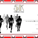 5K Certificate Of Completion Template Free 3 | Certificate Intended For Unique Marathon Certificate Template 7 Fun Run Designs