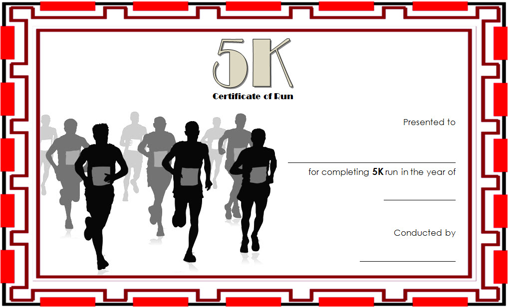 5K Certificate Of Completion Template Free 3   Certificate intended for Unique Marathon Certificate Template 7 Fun Run Designs
