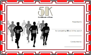5K Certificate Of Completion Template Free 3 | Certificate with regard to Running Certificate Templates 10 Fun Sports Designs