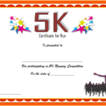 5K Participation Certificate Template Free 3 | Certificate Inside 5K Race Certificate Template