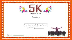 5K Participation Certificate Template Free 3   Certificate inside Unique 5K Race Certificate Templates