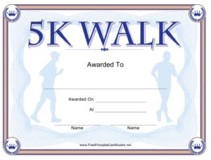 5K Walk Certificate Template Download Printable Pdf inside Walking Certificate Templates