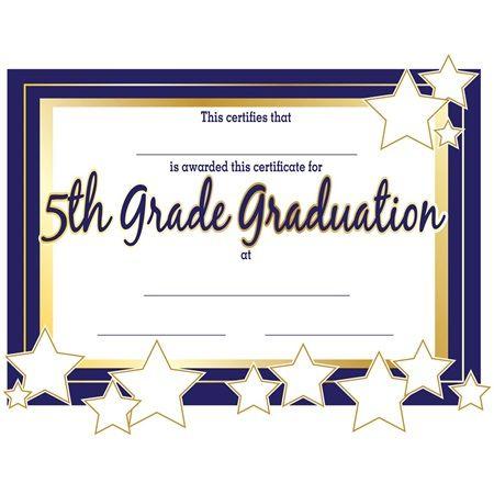 5Th Grade Graduation Certificates   Anderson'S   Graduation throughout 5Th Grade Graduation Certificate Template