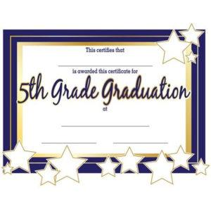 5Th Grade Graduation Certificates | Anderson'S | Graduation within Grade Promotion Certificate Template Printable