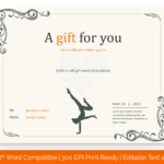 6+ Yoga Gift Certificate Templates (In Word, Pdf Format) within Best Yoga Gift Certificate Template Free