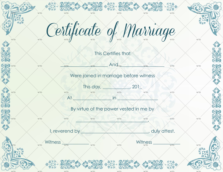 60+ Marriage Certificate Templates (Word | Pdf) Editable for Quality Marriage Certificate Template Word 10 Designs