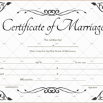 60+ Marriage Certificate Templates (Word | Pdf) Editable For Unique Marriage Certificate Editable Templates